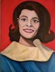 Portait of Celeste Yarnall as Miss Rheingold 1964 by Nazim Artist http://www.NazimArtist.com