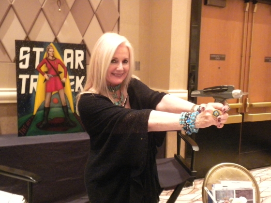 Celeste Yarnall aims her phaser at inflammation!