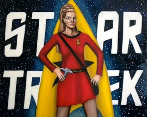 """Celestial Trek,"" Portrait of  Celeste Yarnall as Yeoman Landon   by Nazim Artist"