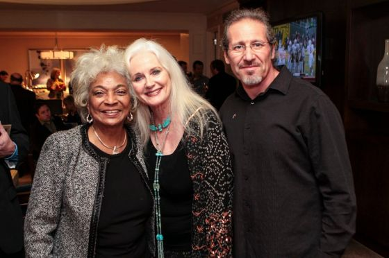 Producers Nichelle Nichols (Uhura from Star Trek TOS) Celeste Yarnall and Nazim Artist at the UNBELIEVABLE!!!!! launch party in San Francisco.