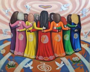 Femme Women Healing the World ~ Oil on Canvas by Nazim Artist http://www.NazimArtist.com