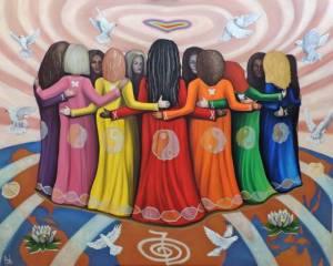Femme Women Healing the World ~ Oil on Canvas by Nazim Artist http://www.NazimArtist.com