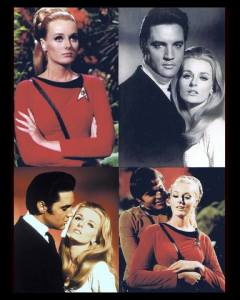 Celeste with Elvis and Celeste in Star Trek