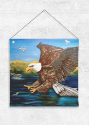 BOld Eagle Tapestry Large.