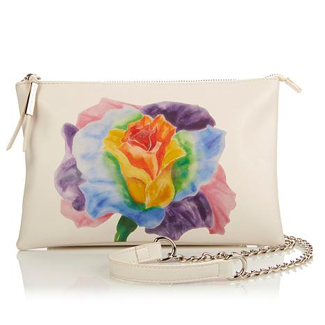 Statement Clutch - Purple Roses by VIDA VIDA ZWsBgcAQH